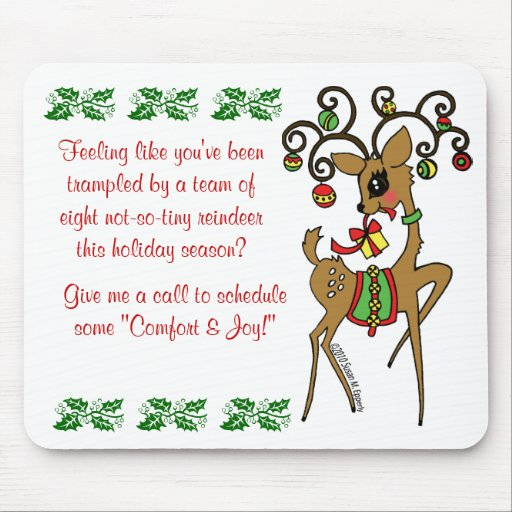 Vixen client patient christmas gift mouse pad zazzle for Holiday gift ideas clients