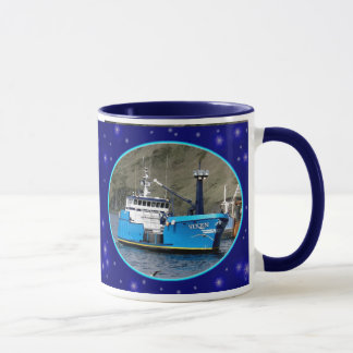 Vixen, Crab Boat in Dutch Harbor, Alaska Mug