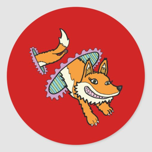 Vixen de Cadmean - el Fox porta Pegatinas Redondas