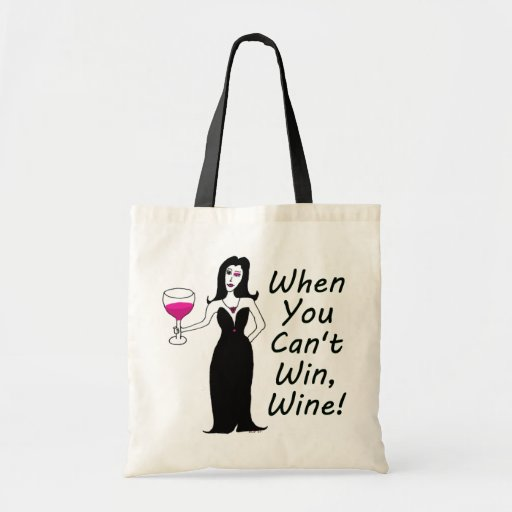 Vixen del vino simplemente travieso cuando usted n bolsa tela barata