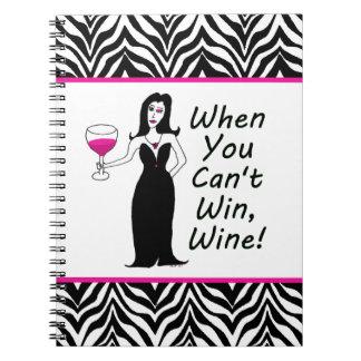 Vixen del vino simplemente travieso cuando usted n libreta