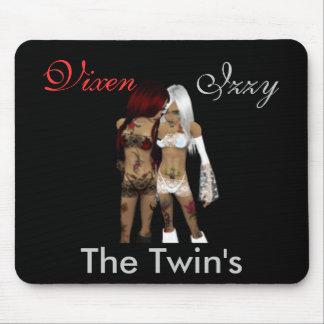 Vixen e Izzy los gemelos Alfombrillas De Ratón