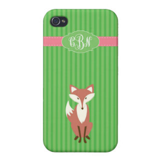 Vixen Green Stripe - iPhone4- Chantel Cover For iPhone 4