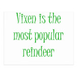 Vixen is the Most Popular Reindeer Postcard