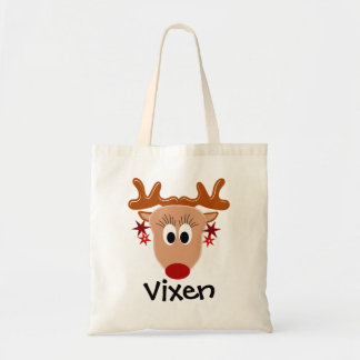 Vixen Reindeer Tote Bag