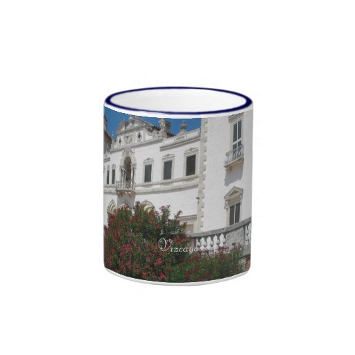 Vizcaya Gardens Estate Ringer Coffee Mug