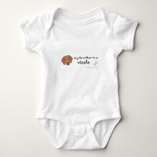 vizsla baby bodysuit