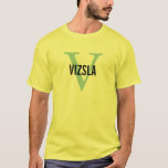Vizsla Breed Monogram Design T-Shirt