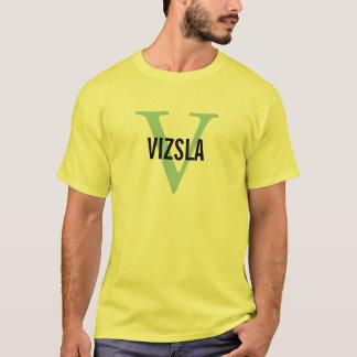 Vizsla Breed Monogram Design T-Shirt