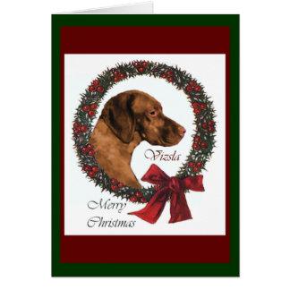 Vizsla Christmas Gifts Greeting Card