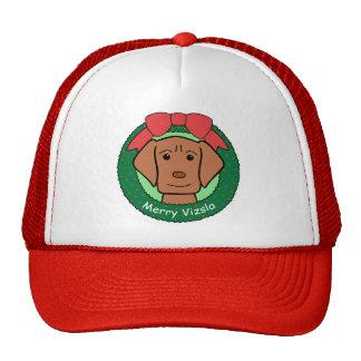 Vizsla Christmas Mesh Hat