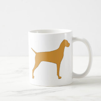 vizsla color silhouette coffee mug