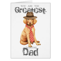 Vizsla Dad Card