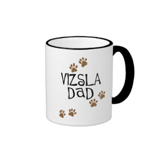 Vizsla Dad Ringer Coffee Mug