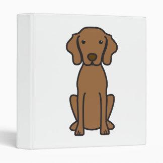 Vizsla Dog Cartoon 3 Ring Binder