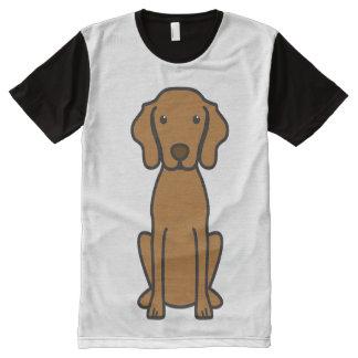 Vizsla Dog Cartoon All-Over Print Shirt