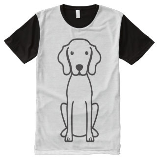 Vizsla Dog Cartoon All-Over Print T-shirt