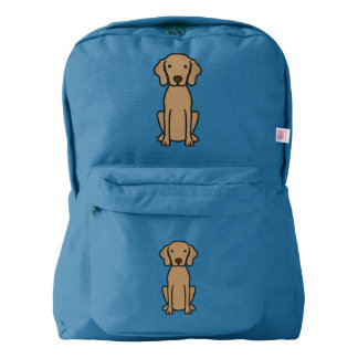 Vizsla Dog Cartoon American Apparel™ Backpack