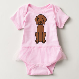 Vizsla Dog Cartoon Baby Bodysuit
