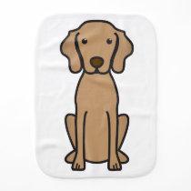 Vizsla Dog Cartoon Baby Burp Cloth