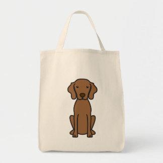 Vizsla Dog Cartoon Canvas Bag