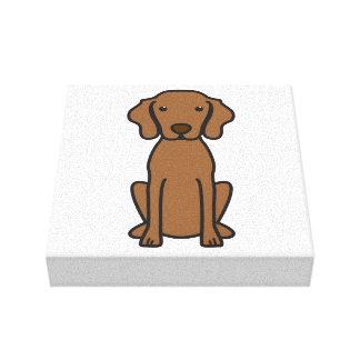 Vizsla Dog Cartoon Canvas Print