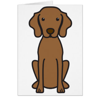 Vizsla Dog Cartoon Card