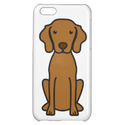 Case Savvy Matte Finish iPhone 5C Case with Vizsla Phone Cases design