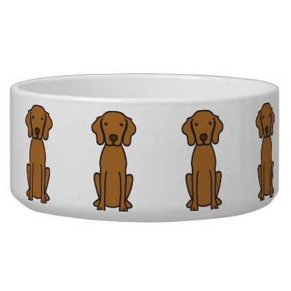 Vizsla Dog Cartoon Dog Bowl