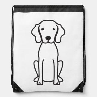 Vizsla Dog Cartoon Drawstring Backpack