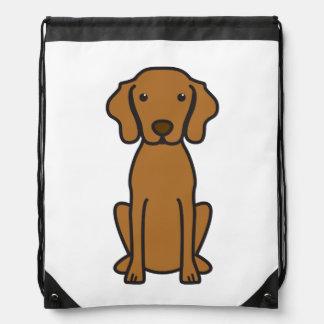 Vizsla Dog Cartoon Drawstring Bag