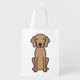 Vizsla Dog Cartoon Grocery Bag