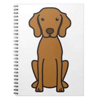 Vizsla Dog Cartoon Notebooks