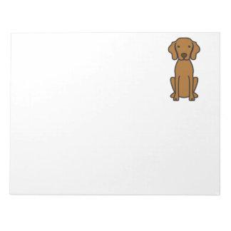 Vizsla Dog Cartoon Note Pad