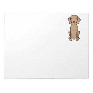 Vizsla Dog Cartoon Notepad