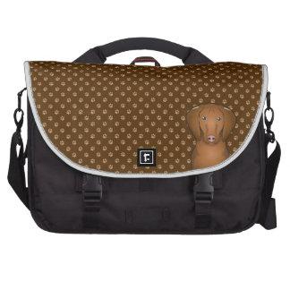 Vizsla Dog Cartoon Paws Laptop Messenger Bag