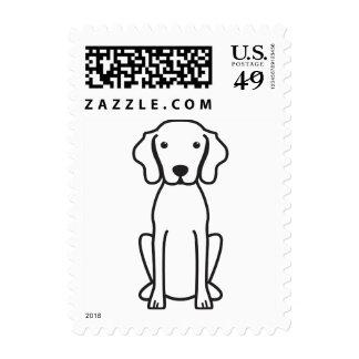 Vizsla Dog Cartoon Postage Stamps