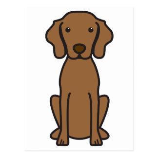 Vizsla Dog Cartoon Postcard