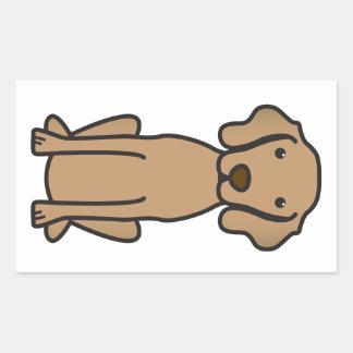 Vizsla Dog Cartoon Rectangular Sticker