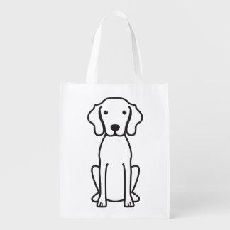 Vizsla Dog Cartoon Reusable Grocery Bags