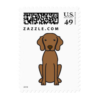 Vizsla Dog Cartoon Stamps