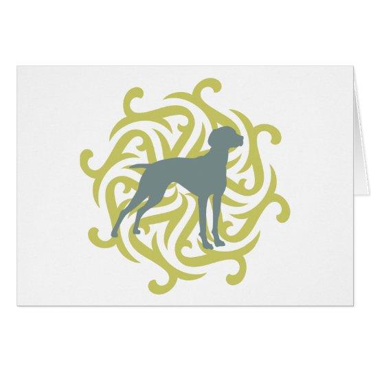 Vizsla Dog Design (lime & slate) Card