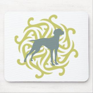 Vizsla Dog Design (lime & slate) Mouse Pad