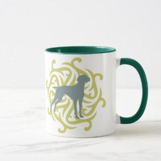 Vizsla Dog Design (lime & slate) Mug