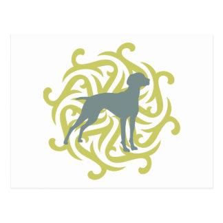 Vizsla Dog Design (lime & slate) Postcard