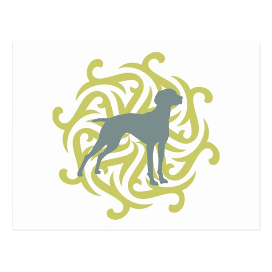 Vizsla Dog Design (lime & slate) Postcard