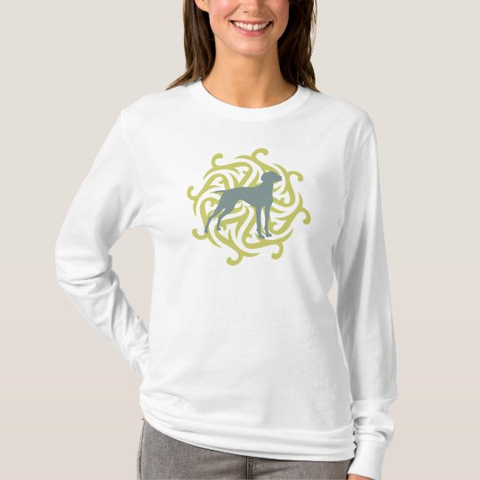 Vizsla Dog Design (lime & slate) T-Shirt