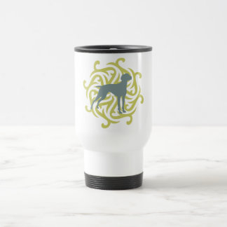Vizsla Dog Design (lime & slate) Travel Mug