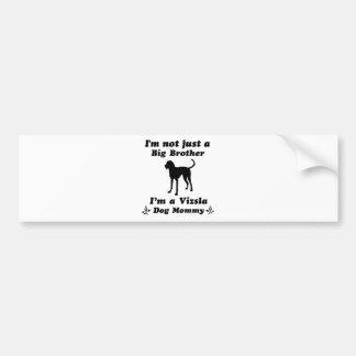 Vizsla  Dog Designs Bumper Sticker