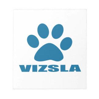 VIZSLA DOG DESIGNS NOTEPAD